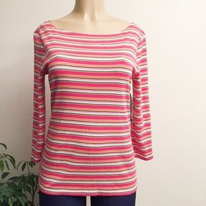 NWT Jones New York Stripe Tee WM350